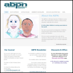 Screen shot of the Association of British Paedatric Nurses (ABPN) website.