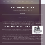 Screen shot of the Association of Garage Door Specialists (AGDS) website.
