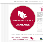 Screen shot of the Association of Home Information Pack Providers (AHIPP) website.