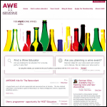 Screen shot of the Association of Wine Educators (AWE) website.