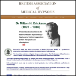 Screen shot of the British Association of Medical Hypnosis (BAMH) website.