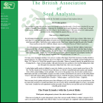 Screen shot of the British Association of Seed Analysts (BASA) website.