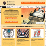 Screen shot of the British Cartoonists' Association (BFPDA) website.