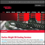 Screen shot of the E/M Coating Services website.
