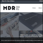 Screen shot of the MDR Creative (UK) Ltd website.