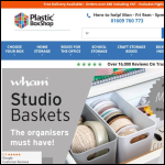 Screen shot of the PlasticBoxShop website.