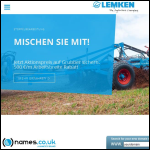 Screen shot of the Lemken UK website.