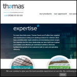 Screen shot of the Thomas Panels & Profiles website.
