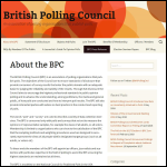Screen shot of the British Polling Council (BPC) website.