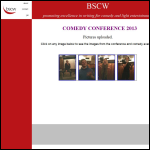 Screen shot of the British Society of Comedy Writers (BSCW) website.