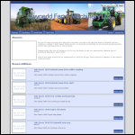 Screen shot of the Gwynedd Farm Machinery website.