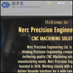 Screen shot of the Nerc Precision Engineering Ltd website.