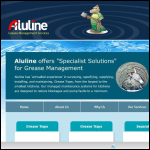 Screen shot of the Aluline Grease Traps website.
