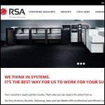 Screen shot of the RSA Cutting Systems Ltd website.