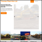 Screen shot of the Thomas, Arwel Agricultural & Plant Hire Contractor website.
