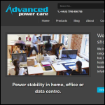 Screen shot of the Advanced Power Care Ltd website.