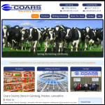 Screen shot of the Coar Farm Supplies website.