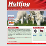 Screen shot of the Hotline Electric Fencing Ltd website.