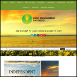 Screen shot of the Crop Management Services website.
