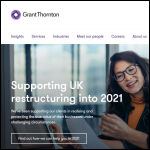 Screen shot of the Grant Thornton website.