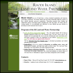 Screen shot of the Land & Water Partnership website.