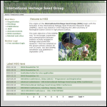 Screen shot of the Herbage Seed Services website.
