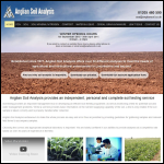Screen shot of the Anglian Soil Analysis Ltd website.