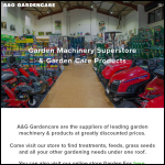 Screen shot of the A & G Retail Superstore website.