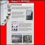 Screen shot of the Robert J Benfield Engineering Ltd website.