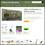 Screen shot of the Cliftons Turf Machinery Ltd website.