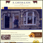 Screen shot of the R Carter & Son website.
