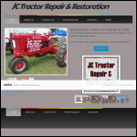 Screen shot of the JC Tractor Services website.