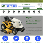Screen shot of the DH Services website.