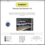 Screen shot of the Ramsay Soil Injection Ltd website.
