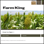 Screen shot of the King Farm Machinery website.