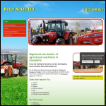 Screen shot of the Peter Noble Tractors Ltd website.