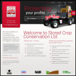 Screen shot of the Stored Crop Conservation Ltd website.