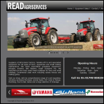 Screen shot of the Read Agriservices website.