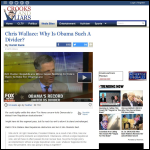 Screen shot of the Chris Wallace website.