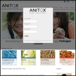 Screen shot of the Anitox Ltd website.