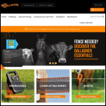 Screen shot of the Gallagher Power Fence (UK) Ltd website.