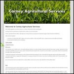 Screen shot of the Carney Agricultural Services website.