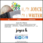 Screen shot of the Joyce, K J website.