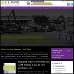 Screen shot of the R S Davis Ltd website.