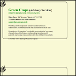 Screen shot of the Green Crops (Advisory Service) website.