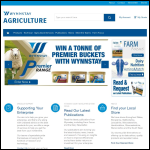 Screen shot of the Wynnstay Group Plc website.