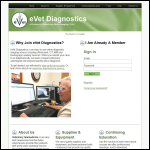 Screen shot of the Vet Diagnostics website.