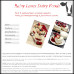 Screen shot of the Rainy Lanes Dairy Foods Ltd website.