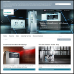 Screen shot of the Siemens Domestic Appliances website.