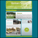 Screen shot of the Horsham Fencing website.